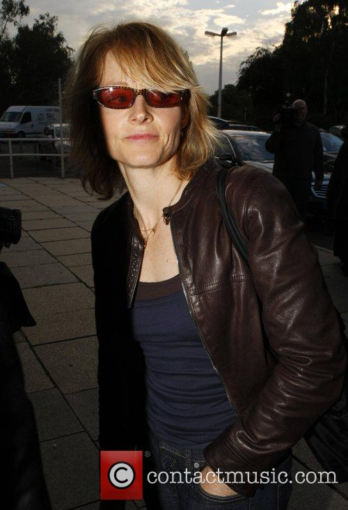 Jodie Foster at Tempelhof Airport leaving Berlin after...