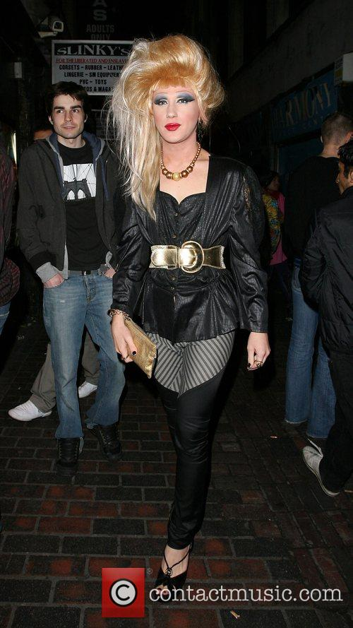 Jodie Harsh arriving at the Revue Bar in...