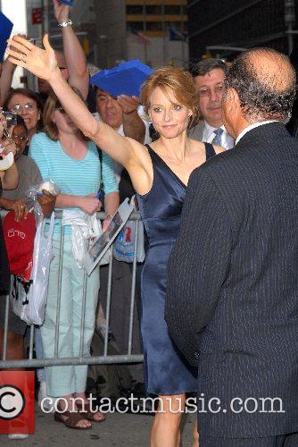Jodie Foster outside Ed Sullivan Theatre for the...