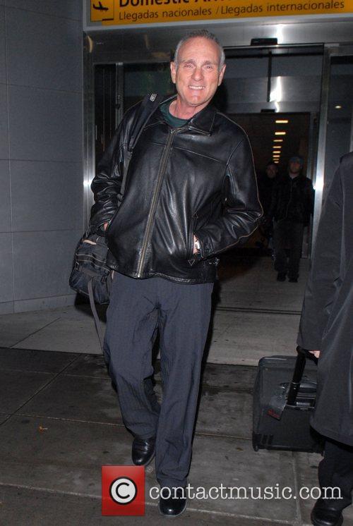 Joe Regalbuto (Murphy Brown) arrives at JFK Airport.