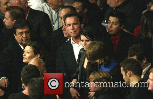 Catherine Zeta Jones and Arnold Schwarzenegger Joe Calzaghe...