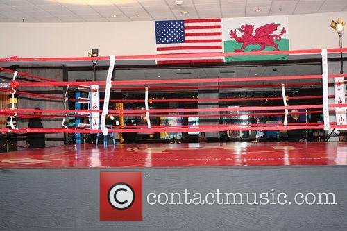 Welsh boxer Joe Calzaghe had a media day...