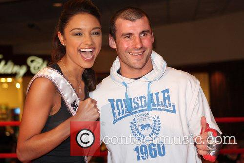 Miss USA Rachel Smith and Enzo Calzaghe Welsh...