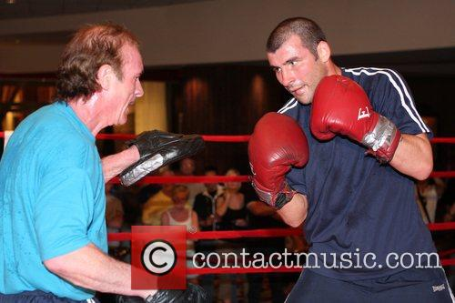 Joe Calzaghe and his father/trainer Enzo Calzaghe Welsh...