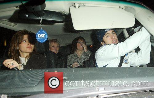 Joe Cole leaving Stamford Bridge with his girlfriend...