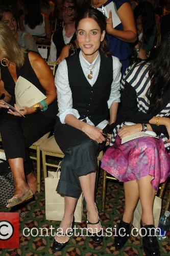 Amanda Peet Mercedes-Benz Fashion Week New York Spring...