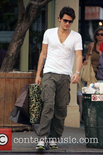John Mayer walking with his shopping in SoHo...