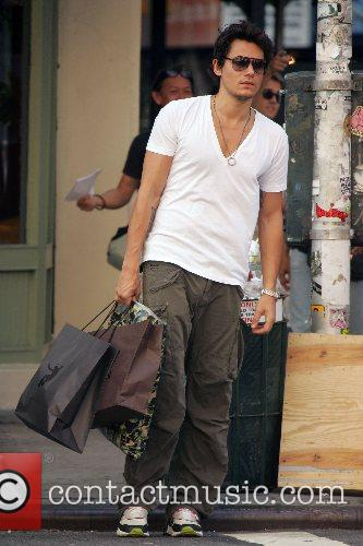 Walking with his shopping in SoHo