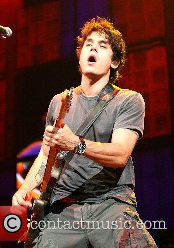 John Mayer performing at The AT&T Center San...