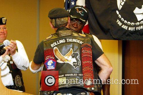 Actor John Amos joins the Vietnam Veterans Rolling...
