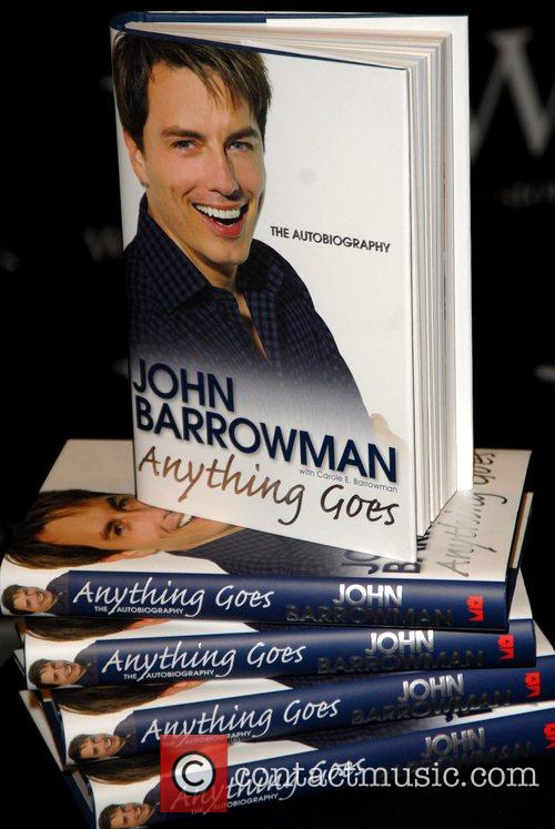 John Barrowman signing copies of his autobiography 'Anything...