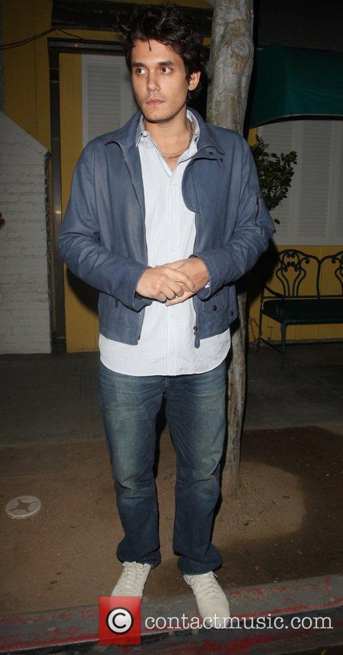 John Mayer leaving Dan Tannas Restaurant Los Angeles,...