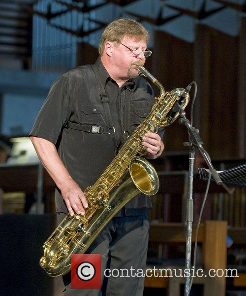Jazz saxophonist John Surman performing live at Coventry...
