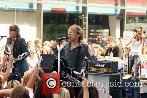Bon Jovi performs live at Rockefeller Plaza on...