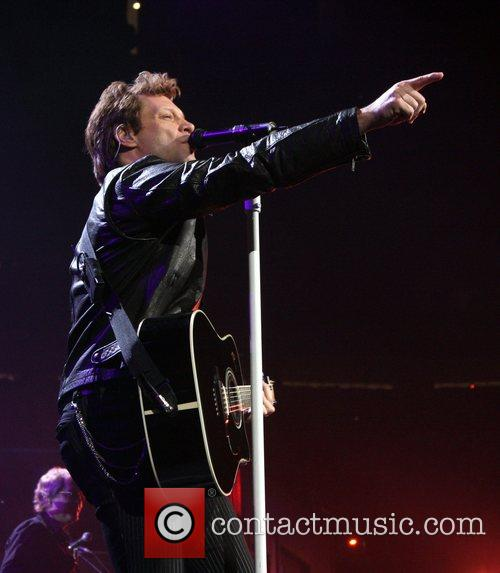 Jon Bon Jovi performing live in concert at...