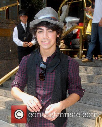 New Jersey rockers Jonas Brothers leaving their Manhattan...