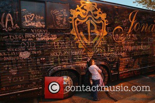 Jonas Brothers tour bus The Jonas Brothers perform...