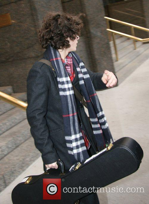 American pop rock band Jonas Brothers leaving their...