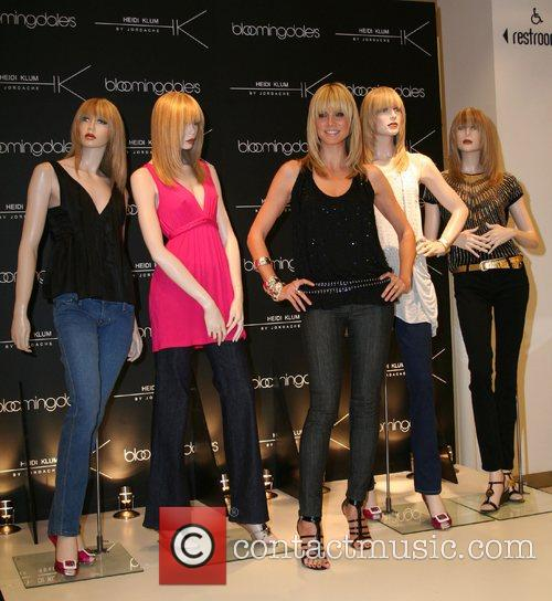 Heidi Klum by Jordache clothes launch at Bloomingdales