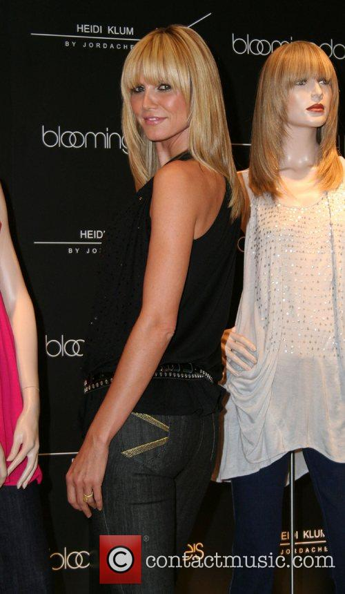 Heidi Klum by Jordache clothes launch at Bloomingdales...