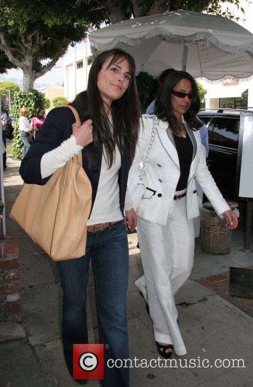 Jordana Brewster leaving The Ivy restaurant after dining...
