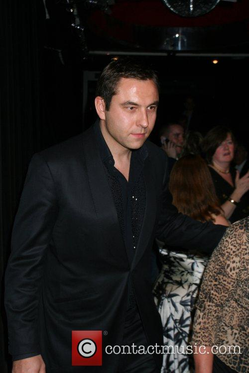 David Walliams leaving the afterparty for the musical,...