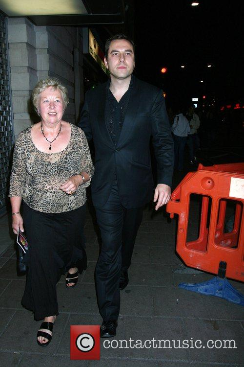 David Walliams and his mother leaving the afterparty...