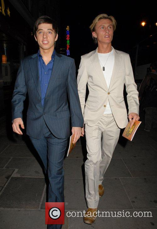 Leaving the press night for the musical, 'Joseph...
