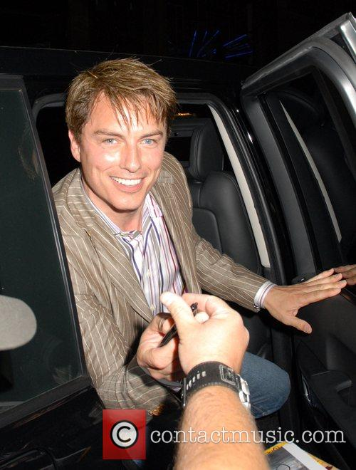 John Barrowman leaving the press night for the...