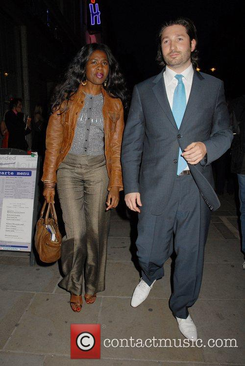 June Sarpong leaving the press night for the...