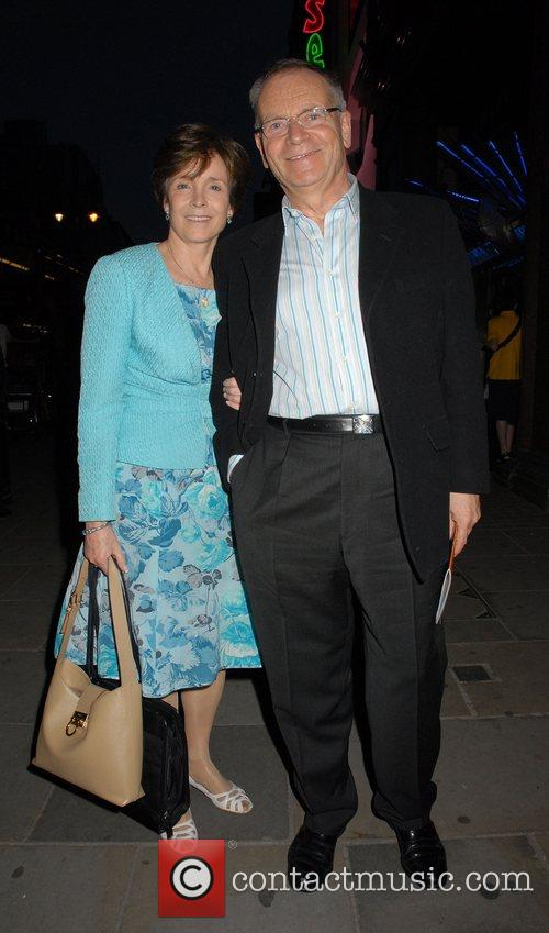 Jeffrey Archer leaving the press night for the...