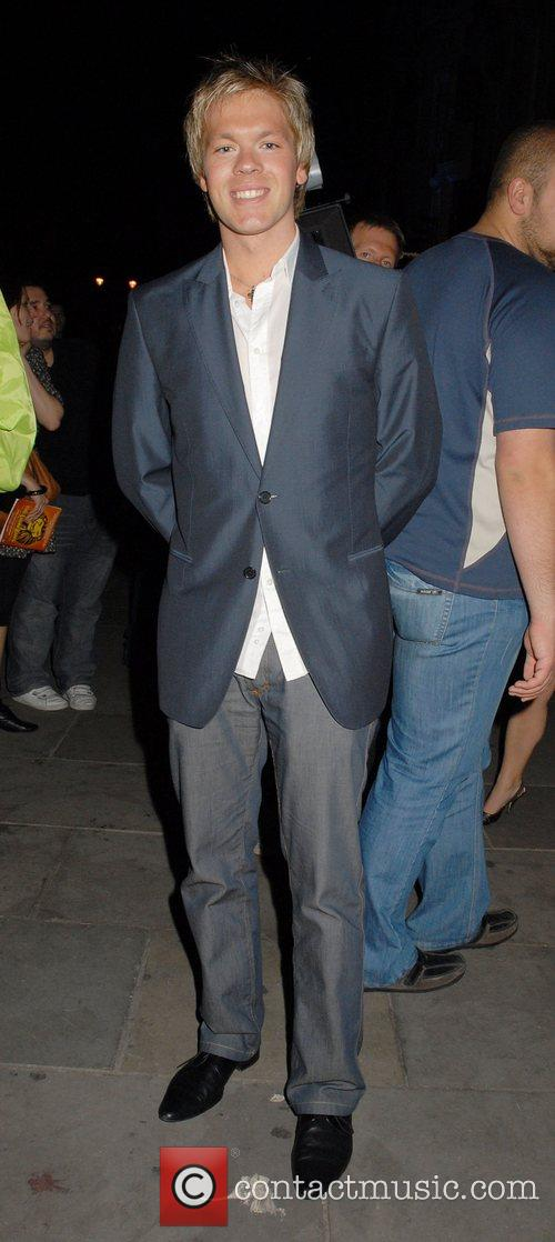 Guest leaving the press night for the musical,...