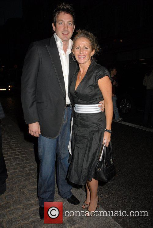 Lucy Benjamin leaving the press night for the...