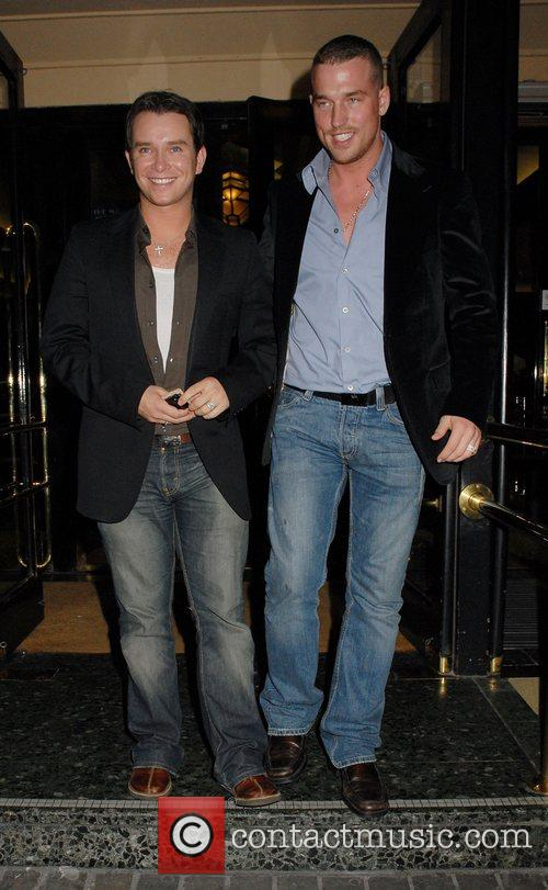 Stephen Gately leaving the press night for the...