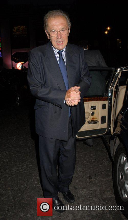 Sir David Frost leaving the press night for...