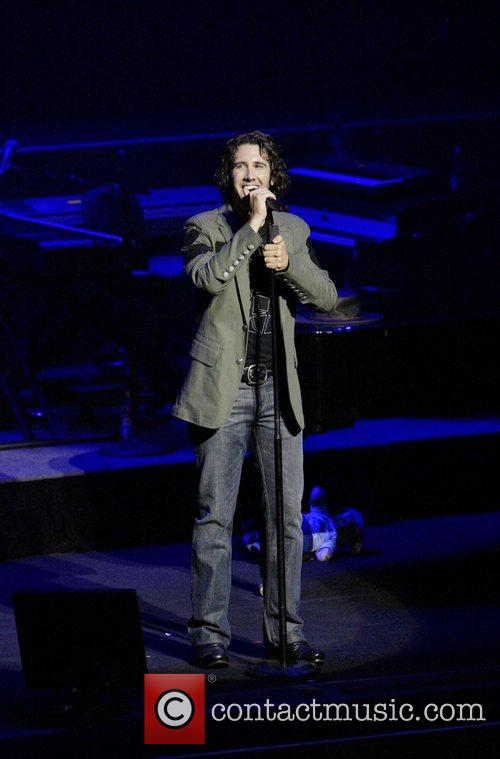 Josh Groban performing live in concert at the...