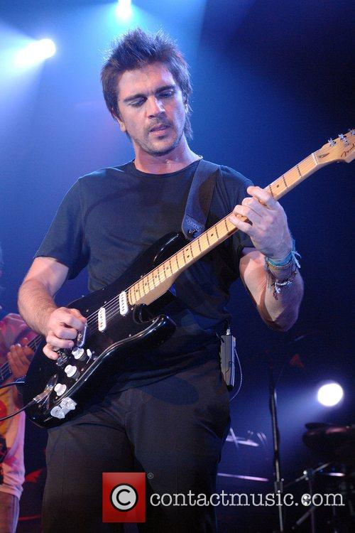 Juanes performing live in concert at the Fillmore...