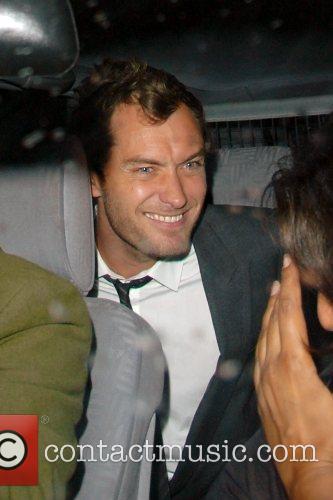 Jude Law leaving Cabaret club