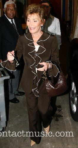 Judge Judy Sheindlin leaving ABC Studios after appearing...