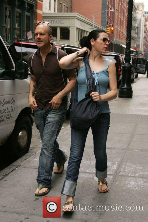 Julianna Margulies out and about with a friend...