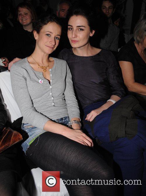 Leah Wood and Erin O'Connor London Fashion Week...