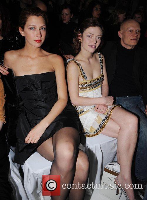 Margo Stilley and Camilla Rutherford London Fashion Week...