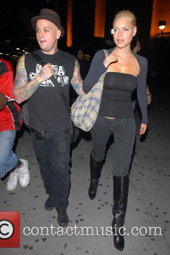 Benji Madden, Sophie Monk Celebrities leaving Madison Square...
