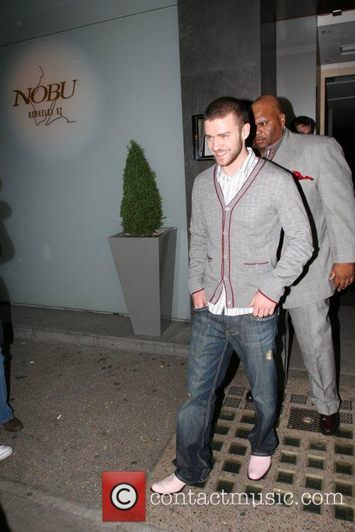 Justin Timberlake leaving Nobu Berkeley