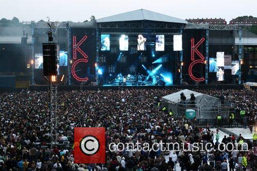 Kaiser Chiefs performing at their homecoming gig at...