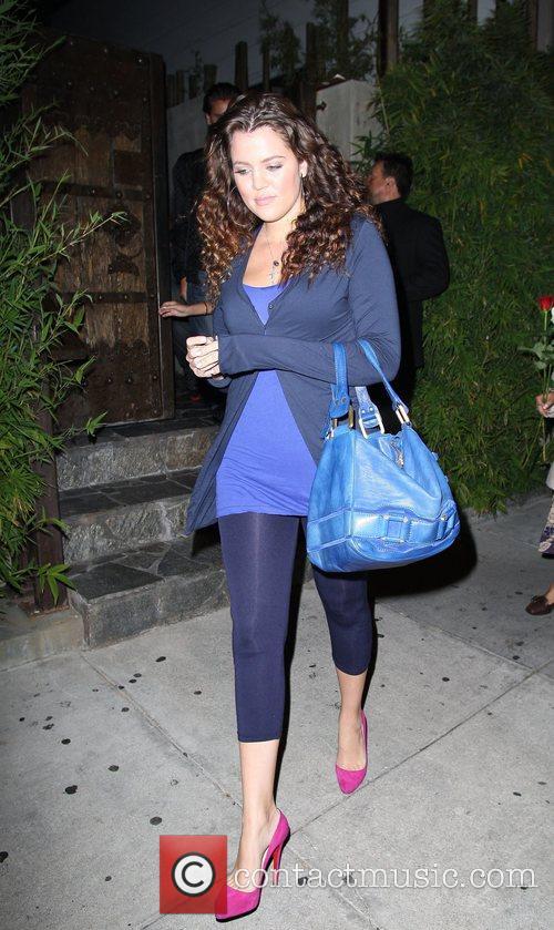 Khloe Kardashian Celebrities leaving Koi restaurant Los Angeles,...