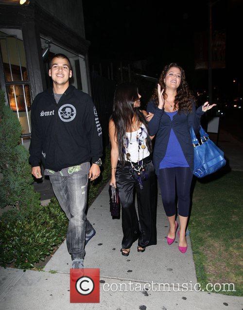 Celebrities leaving Koi restaurant