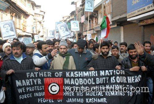 Activists of the Jammu and Kashmir Liberation Front...