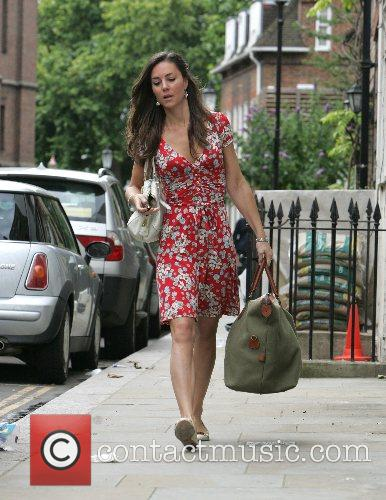 Kate Middleton leaving her London home this morning...