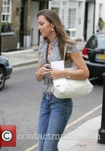 Kate Middleton on her way to work London,...
